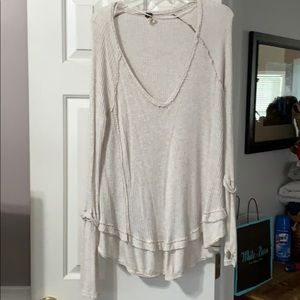 Free People V neck thermal tunic small